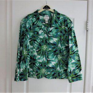 Drapers Floral Print Deep Green Teal Blue Jacket